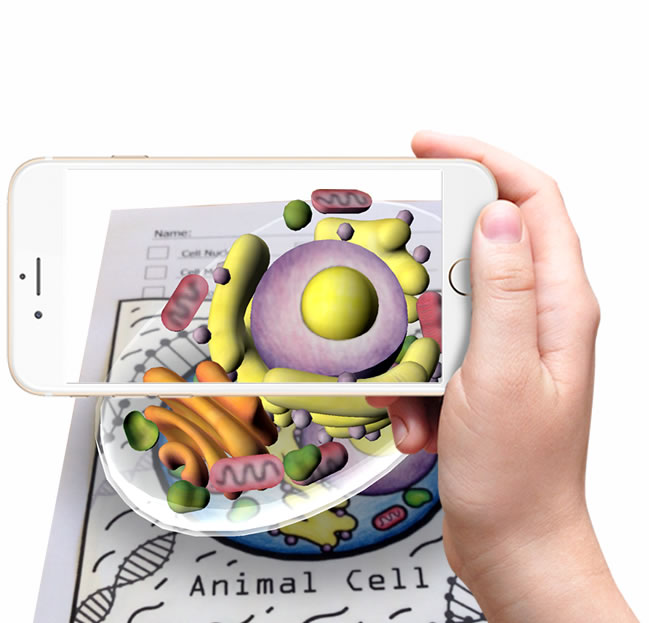 Quiver Education Quivervision 3d Augmented Reality Coloring Apps Animal Cell Coloring Apps Augmented Reality