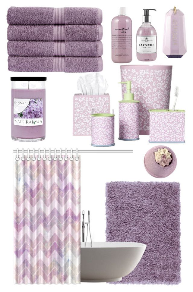 Lavender Bathroom By Mariananava Liked On Polyvore Featuring Interior Interiors Inte Lavender Bathroom Purple Bathroom Accessories Purple Bathroom Decor