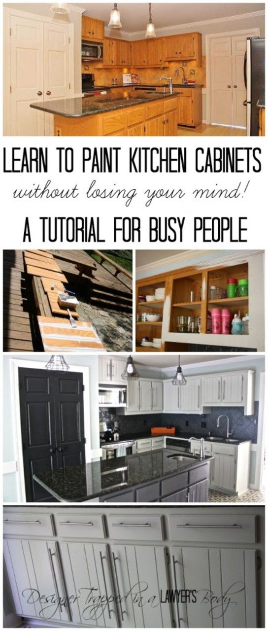 Learn How To Paint Your Kitchen Cabinets Without Losing Your Mind! Finally