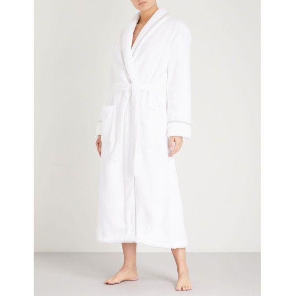 The White Company Shawl-collar hydrocotton robe (114 AUD) ❤ liked ...