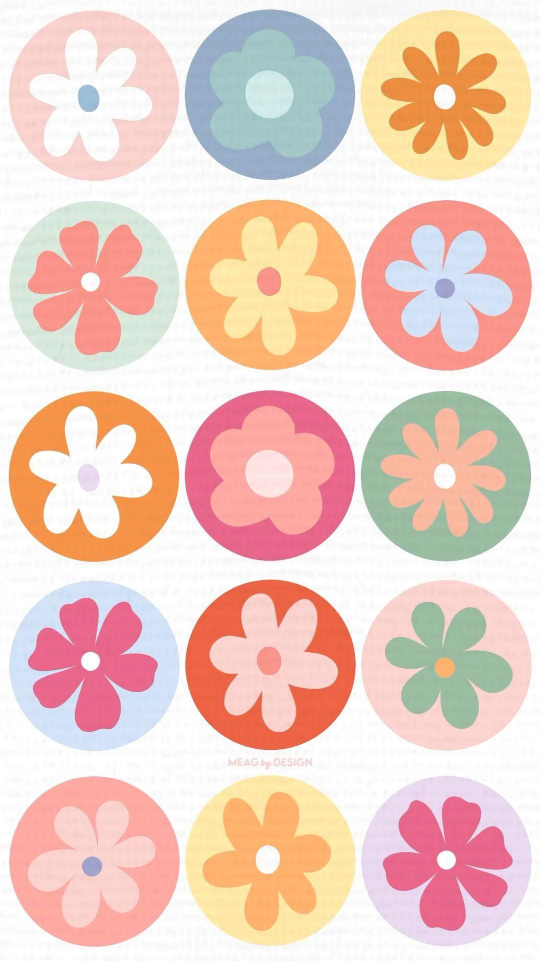 RETRO FLOWER BACKGROUNDS 🌸✨
