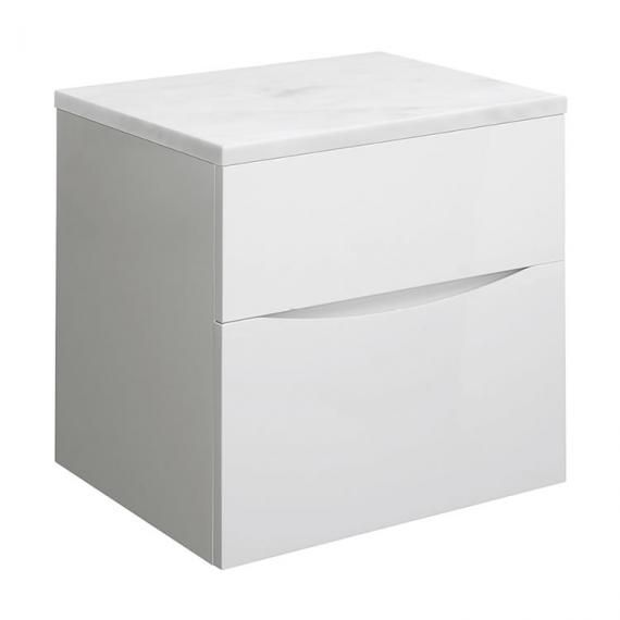 Crosswater Bauhaus Glide II White Gloss 50 Unit and