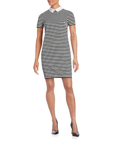 TOMMY HILFIGER Tommy Hilfiger Collared Sailor Rib-Knit Dress. #tommyhilfiger #cloth #