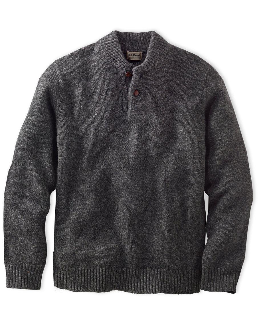 Llbean Classic Ragg Wool Sweater Henley Clothing For Zane Men