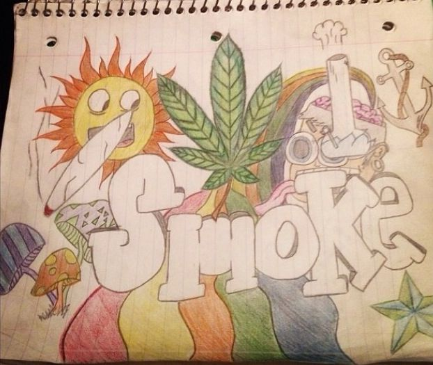 Stoner Doodle Paint Drawings Painting