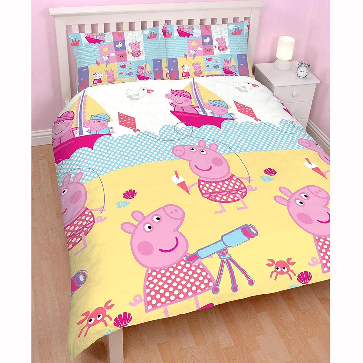 Peppa Pig Double/US Full Rotary Duvet Cover + Matching 72