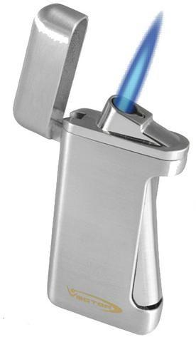 Vector Tilt 1C Chrome Satin Lighter