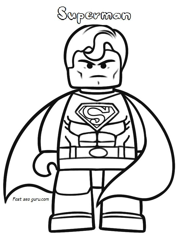 Print Out The Lego Movie Superman Coloring Pages Superman