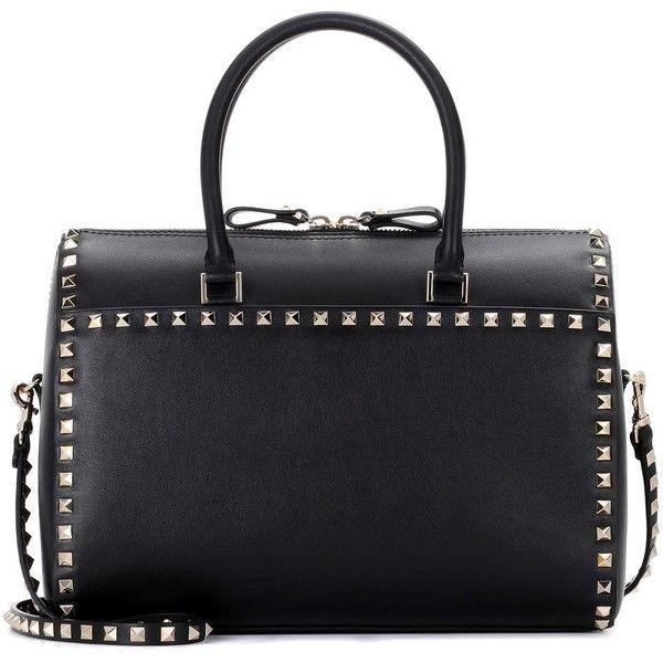 Valentino Black Leather Boston Bag qn6cT