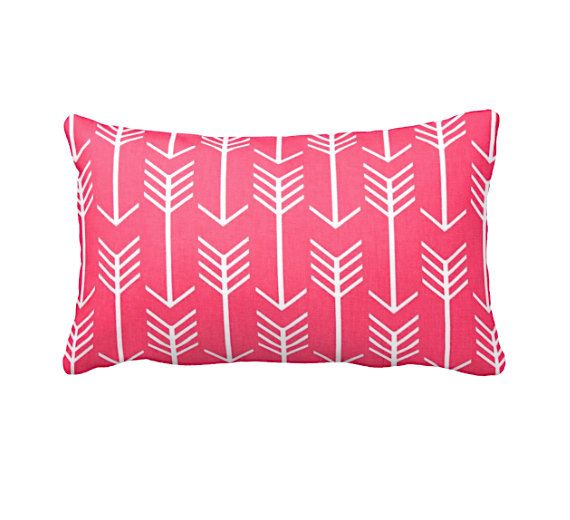 Hot Pink Pillow Cover Throw Covers Bright Pillows Tribal Aztec Decorative