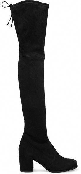 5f71f1ee5954 Stuart Weitzman Tieland Suede Over-the-knee Boots - Black  StuartWeitzman