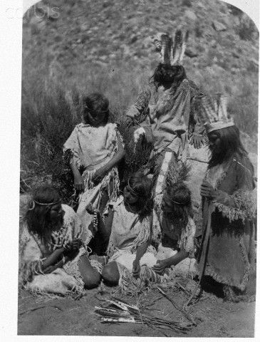 Southern Paiute Children with Necklace.