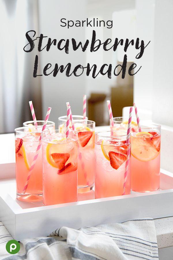 How to Make Sparkling Strawberry Lemonade
