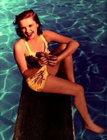 Judy Garland pool side