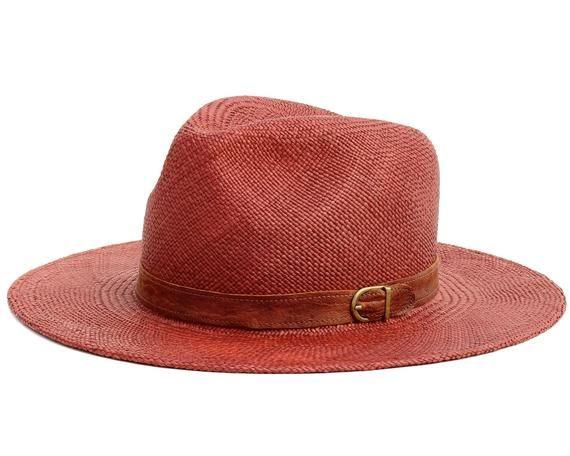6ac82a7ad0bc9e Brown Panama Straw Hat Spring Fashion Beach Sun Hat Spring Accessories  Straw Fedora Hat Beach Hat Su
