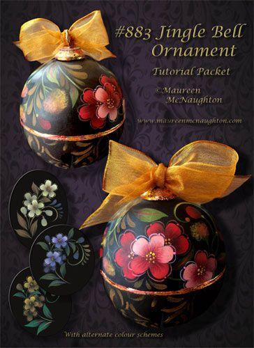 883 Jingle Bell Ornament Tutorial Packet