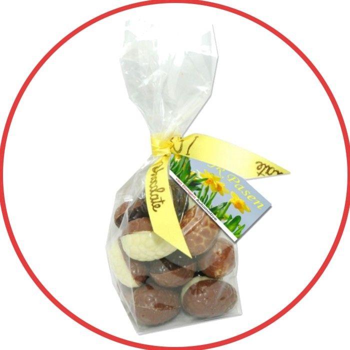 Zakje met 100 gram bonboneitjes #pasen #paaseitjes #chocolade