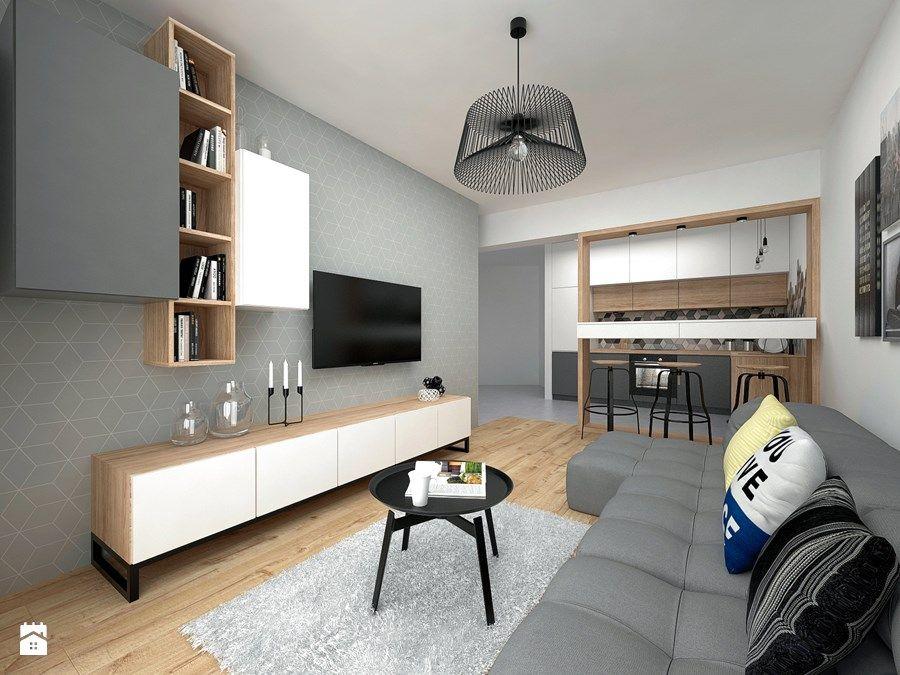 Mieszkanie 40 M2 Mały Salon Z Bibiloteczką Z Kuchnią Z