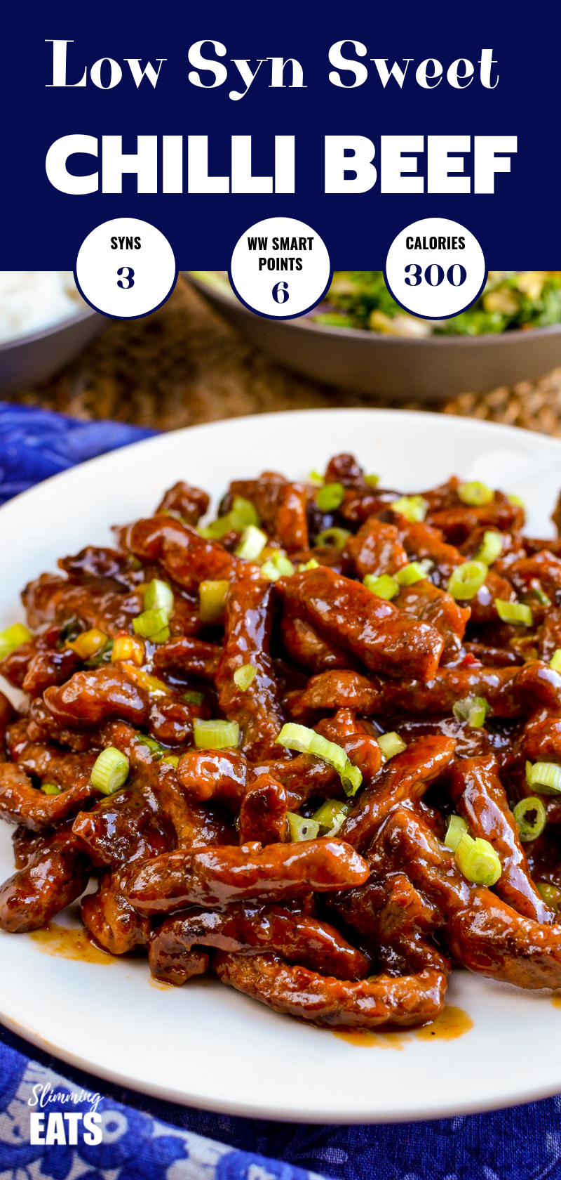 Low Syn Sweet Chilli Beef  yummy coated strips of beef in a delicious sweet chilli sauce for your perfect Chinese Fakeaway night Gluten Free Dairy Free Slimming World and...