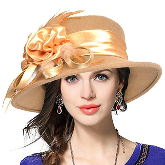 afe15b08f1d Ladies Tea Party Hats- Make or Buy Victorian Hats Womens Wool Church Dress  Cloche Hat Plumy Felt Bucket Winter Hat  24.99 AT vintagedancer.com