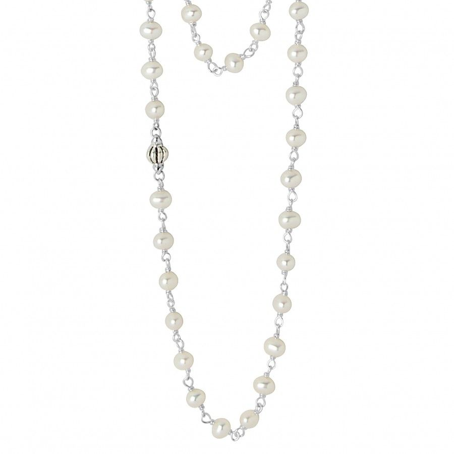 Made for layering. A versatile 36 inch freshwater cultured pearl strand joined by sterling silver. Finished with a signature lobster clasp.