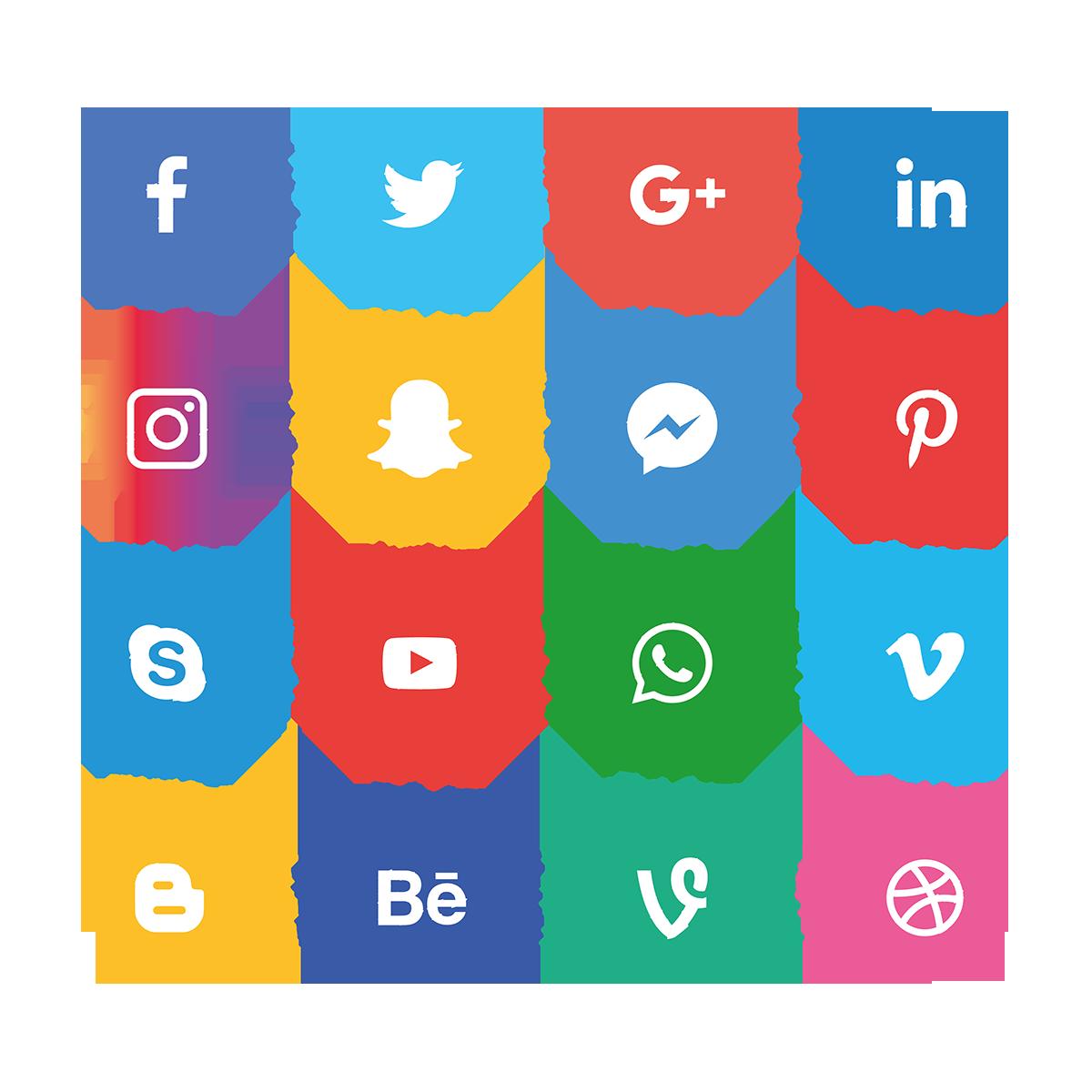 social media icons di 2020 Ikon, Gambar simpel, Gambar