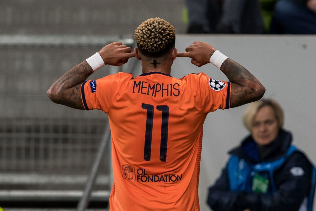 975aefc6f5 Memphis Depay of Olympique Lyonnais during the UEFA Champions League group  E match between TSG 1899