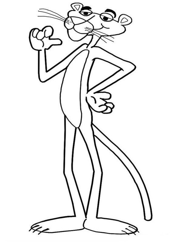 Top 10 Pink Panther Coloring Pages For Your Toddler Pink Panther Cartoon Pink Panter Coloring Pages
