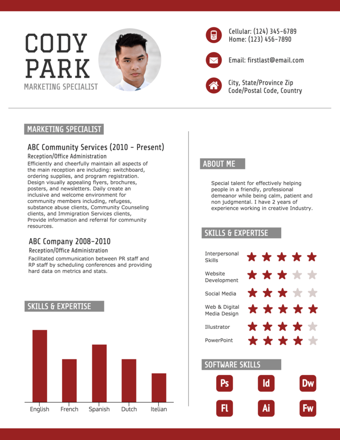 red resume create an eye catching resume that employers will notice by editing this red resume template