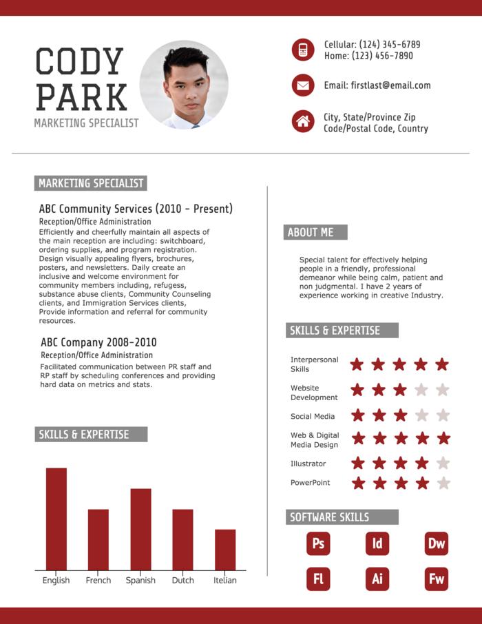 red resume