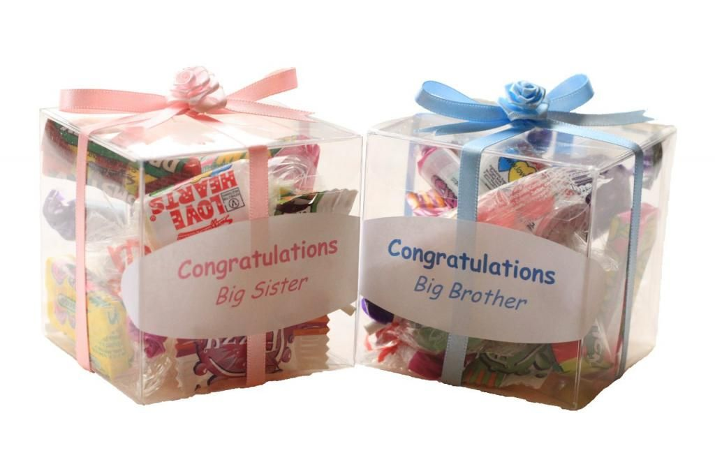 Baby Shower Gifts For Siblings To Be Big Sister Brother Little Box Of Sweets Gift Fiesta Baby Shower Baby Shower Big Brother Gifts
