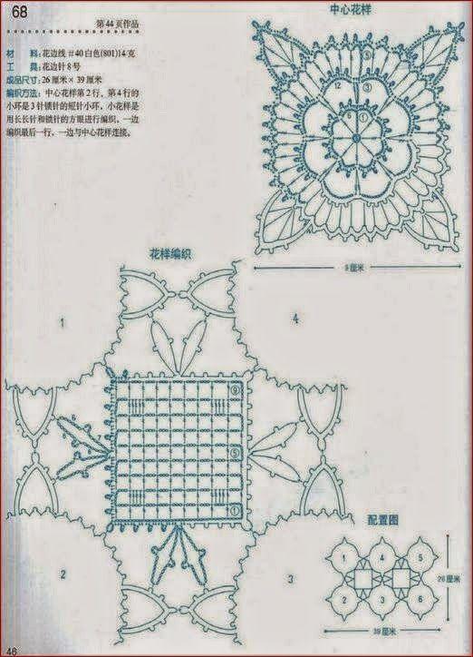 Patrón para tejer carpeta muy delicada con ganchillo | TEJIDOS ...