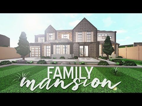 Roblox Videos Beach House Roleplay Roblox Bloxburg Family Mansion 150k Youtube Mansions House Plans With Pictures Two Story House Design