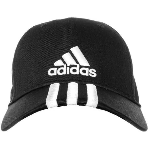 6ced26671e2b4 adidas Performance Cap black white ( 20) ❤ liked on Polyvore featuring  accessories