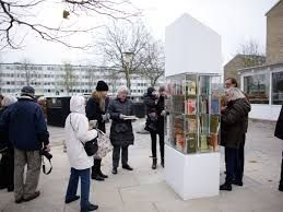 Danish street library/used book drop-off