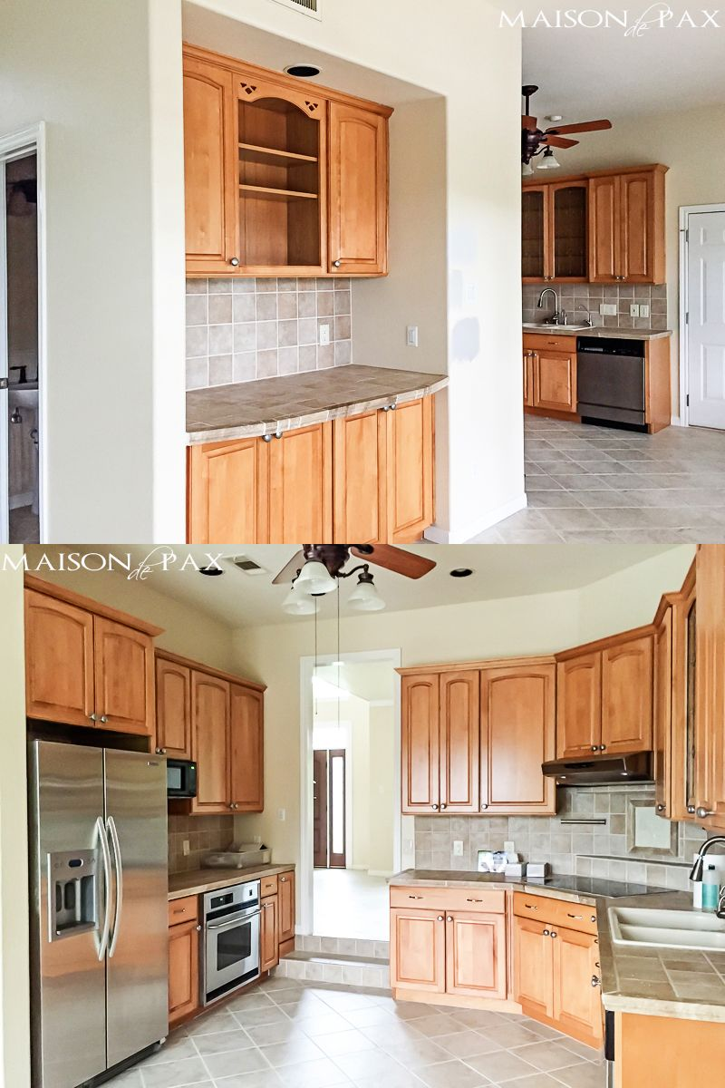 90s Home Update Before And After Maison De Pax Updating House Kitchen Remodel Home Remodeling