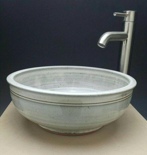 Handmade pottery vessel sink designed for your bathroom for Handmade pots design