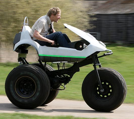 Souped Up Sinclair C5 Is A Monster Trike Monster Trucks Reverse