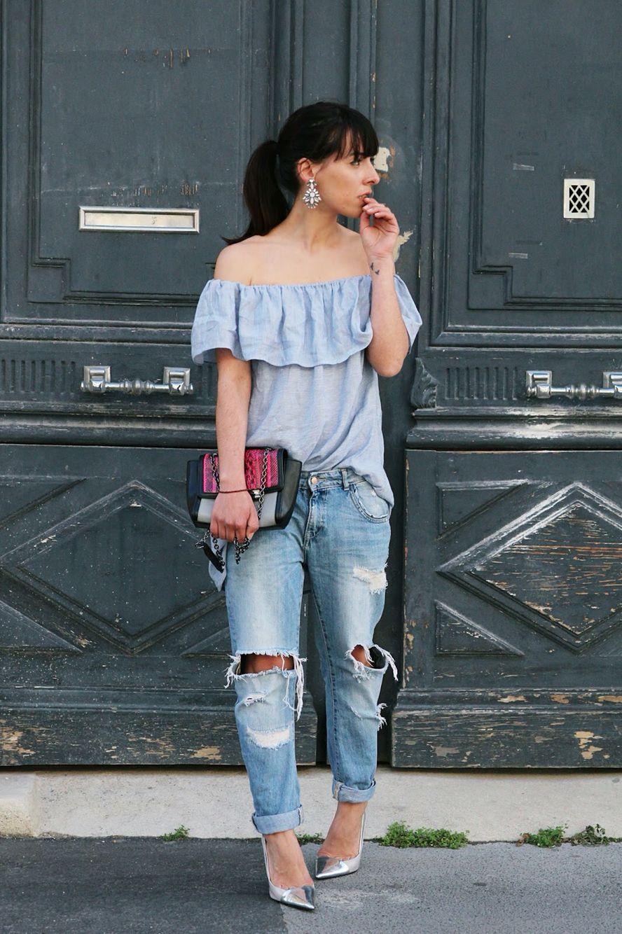 #bleu #pastel #fashionblogger #mode #look #spring #summer #epaules #zara #blogmode #dvf #denim #ledressingapaillettes