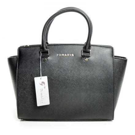 Tom & Eva 6135 Handtasche schwarz (Goldenes Logo & Verschluss) 32,99€  - OSCO GmbH
