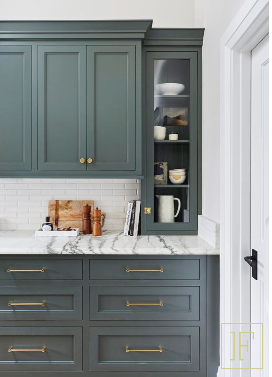 Matte Green Cabinets | Green kitchen cabinets, New kitchen ...