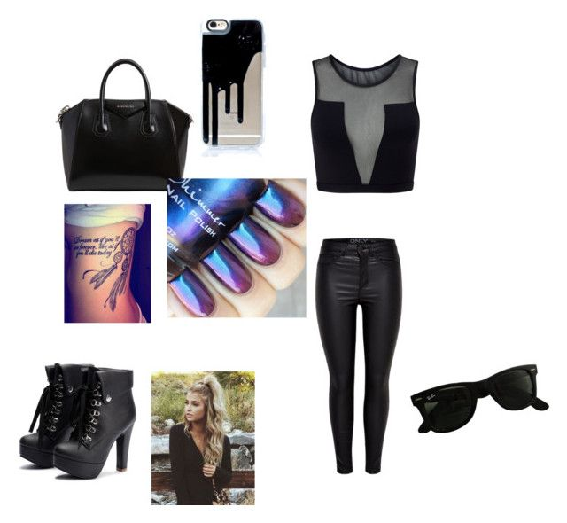 """""""Untitled #912"""" by love188grace ❤ liked on Polyvore featuring Varley, Givenchy and Ray-Ban"""