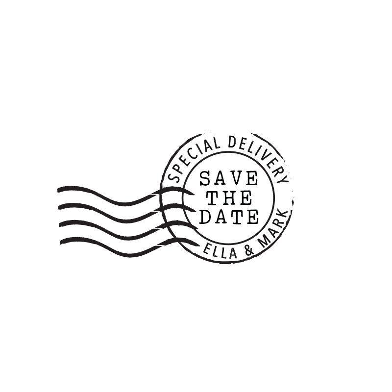 Save The Date Wedding Stamp Rubber Stamp Or Self Inking Stamp Etsy Wedding Stamp Save The Date Stamp Envelope Stamp