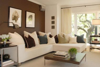 Earth Tones Living Room Decorating Ideas Google Search Accent Walls In Living Room Brown Living Room Small Room Decor