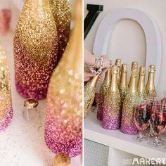 Faça você mesmo!  Dica para garrafas de vinho e champanhe!