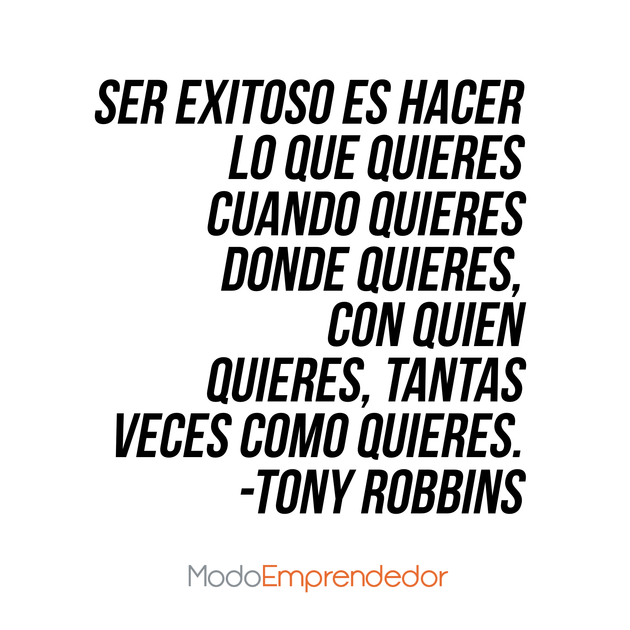 El Secreto De Tony Robbins Para Alcanzar El éxito Frases