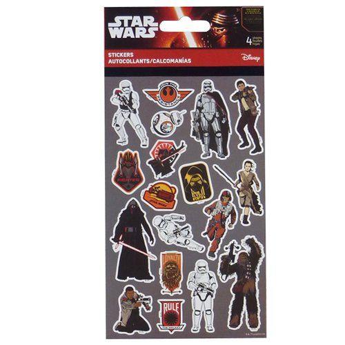 Star Wars 72 Stk Sticker Episode 7 Das Erwachen der Macht 4 Bögen mit Stickern
