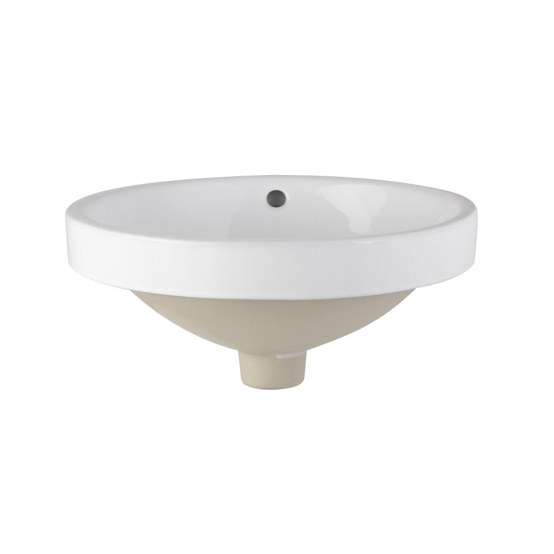 Goodin Semi Recessed Porcelain Sink White Bathroom Sinks Bathroom With Images Semi Recessed Sink Sink Porcelain Sink