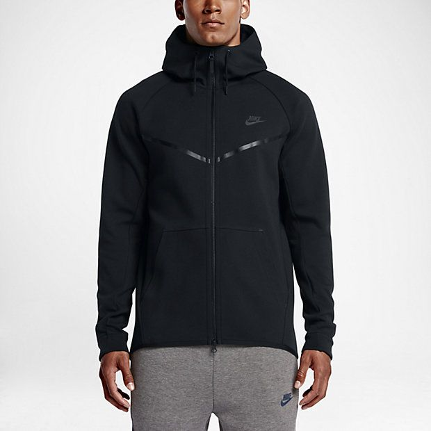 The Nike Sportswear Tech Fleece Windrunner Men's Hoodie is redesigned for  cooler weather with smooth, engineered fleece that offers lightweight  warmth.