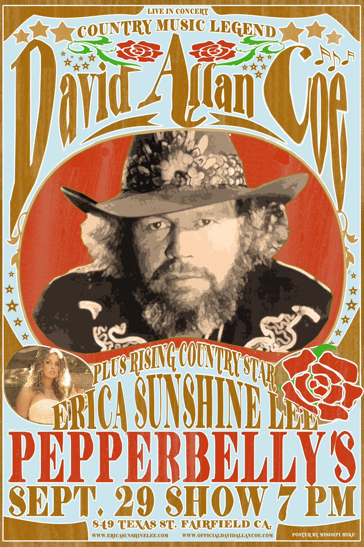 David Allen Coe Country Music Concerts Music Album Covers Music Concert Posters